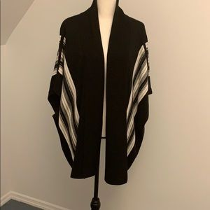 Poncho-style Sweater vest open front cardigan